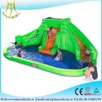 Wholesale Hansel commercial outdoor use chldren party equipment inflatable jumping water slide from china suppliers