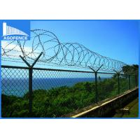 Wholesale Galvanized Steel Coiled Razor Wire 0.35mm - 0.6mm Blade Thickness For Safety from china suppliers