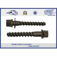 Quality SS Thread Railway Sleeper Screws Zinc Plated / Railway Screw Spikes for sale