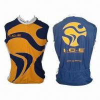 Wholesale Men's Cycling Jerseys, Anti-UV, Breathable and Non-toxic, Customized Designs Welcomed from china suppliers