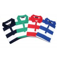 Fashionable Style Casual Work Uniforms , Classic Mens Polo Shirts With Yarn Dyed for sale