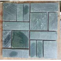 Wholesale Green Slate Mosaic Natural Stone Mosaic Green Slate Wall Mosaic Slate Floor Mosaic Pattern from china suppliers