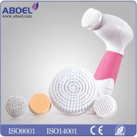 Quality Female Electric Facial Cleansing Brush , Water Proof Exfoliating Face Brush for sale
