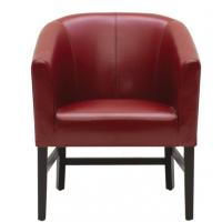 Wholesale Home Furniture burgundy Upholstered Leather Living Room Chair for Accent Club from china suppliers