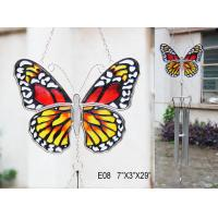 Wholesale Stained glass wind chimes Decorative Garden Stakes with butterfly shape for kids from china suppliers