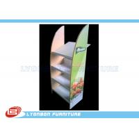 Wholesale Colorful MDF Floor Display Rack Stand Metal Shelf For Vegetable Selling from china suppliers