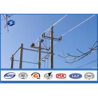 Wholesale Overhead Transmission Line metal utility poles , ASTM A 123 Galvanized  steel post from china suppliers