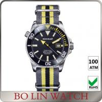 Quality High End Nylon Strap Citizen Stainless Steel Dive Watch Under 300 Ceramic Bezel for sale