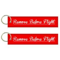 Wholesale Embroidered Remove Before Flight both side Key Tag/Bag Tag from china suppliers