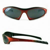 Buy cheap Sunglasses with Scratch-resistant Coated Lens in Various Frame Colors, Lead-free and Non-Toxic from wholesalers