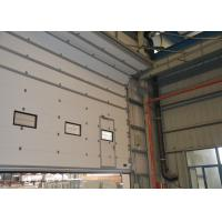 Wholesale Hand chain available  Insulated Sectional Overhead Doors wiht vision windows and pass door from china suppliers