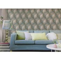 Northern Europe Style Embossed Surface Regular Pattern Wallpaper  For Sofa Background