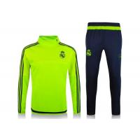 Wholesale Real Madrid Yellow Football Tracksuit 2015 2016 Half Zip Green Training Suit Thai from china suppliers