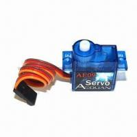 Wholesale Plastic Gear Servo for Radio Control 450 RC Helicopter, with 4.8/6.0V Operating Voltages from china suppliers