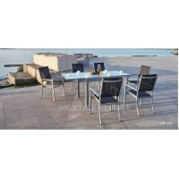 Wholesale Modern Style Metal Patio Table And Chairs 7 Piece Patio Set With Textilene Fabric from china suppliers