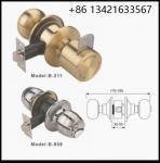 Classical style waterproof hotel bathroom lock, Europe profile round knob lock