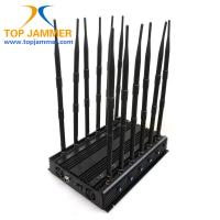 12 Channels 30w Cellphone Signal Jammer Block GSM DCS 3G 4G LTE Wifi 5.8G Lojack 315 433