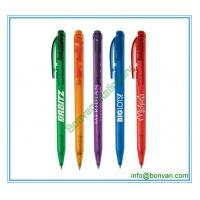 Wholesale chromed pusher retractable plastic ball point pen from china factory from china suppliers