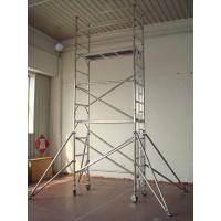 Wholesale 8.2m Ladder Frame Light Weight Scaffolding , Adjustable leg Scaffold tower from china suppliers