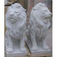 Quality White Animal stone sculpture for garden for sale