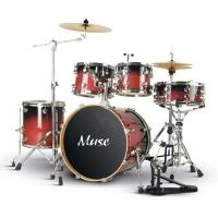 Wholesale Pro - level Cherry Red Lacquered Birch Wood 5 Piece Adult Drum Set ISO9001:2008 from china suppliers