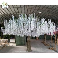 Wholesale UVG 4m large artificial decorative tree with wisteria blossom for home garden decoration from china suppliers