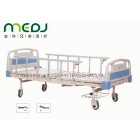 Wholesale ABS Board Manual Hospital Bed , MJSD05-01 2 Cranks Medical Adjustable Bed from china suppliers