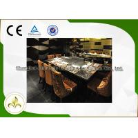 Wholesale Ten Seats LPG / Pipeline Natural Gas Teppanyaki Grill Table , Residential Hibachi Grill Table from china suppliers