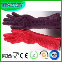 Quality Wholesale High Quality Silicone Heat Resistant Oven Gloves , New Product Hot Selling Fireproof White Silicone Barbecue for sale