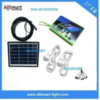 Wholesale Multi-function portable solar led light 2 bulb with mobile phone charger solar home kits indoor lighting from china suppliers
