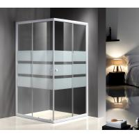 Wholesale Serigraphy Glass Shower Enclosures With 10Cm Adjustable / White Painted Profile from china suppliers