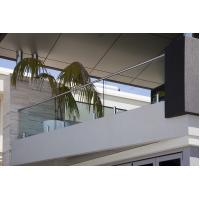 Buy cheap Modern Home Balcony Glass Railing Design Stainless Steel Mini Post from wholesalers