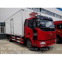 China 10 tons FAW Jiefang 4x2 new mobile cold room trucks for sale, FAW brand 4*2 LHD 10tons refrigerated van truck for sale on sale