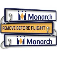 Wholesale Monarch Airline Remove Before Flight Keychains from china suppliers