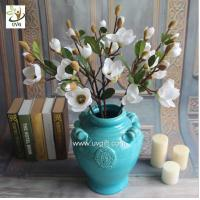 Wholesale UVG wedding theme ideas fake flower arrangements artificial magnolia wholesale for party table decorations FMA54 from china suppliers