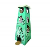 Wholesale New Design Corrugated Cardboard Cat Furniture House Display For Pets Playing from china suppliers
