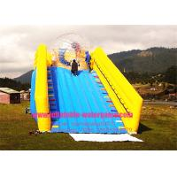 Wholesale Yellow Race Ramp Inflatable Ball Rolling Down Hill With CE Blower / Pump from china suppliers