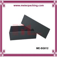 Wholesale Simple black paper box with glossy logo, high end sunglass paper box ME-SG012 from china suppliers