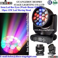 Wholesale 19pcs 12w RGBW 4IN1 LED Bee Eyes beam Moving Head Creative Stage Lighting from china suppliers