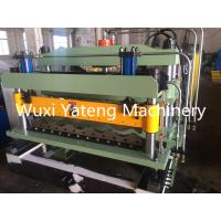 Wholesale Galvanized Steel Corrugated Roof Panel Roll Forming Machine H-Beam Base And Infeed Guides from china suppliers