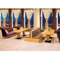 Wholesale Luxurious Upscale Upholstered Restaurant Furniture Booths / Waiting Benches from china suppliers