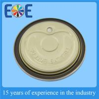 China Food Grade Pop Can Lids 52mm Aluminum Lids With Gold Inside Lacquer on sale