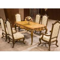 Wholesale Euro Restaurant Furniture Wooden Luxury Dining Room Upholstered Chair and table from china suppliers