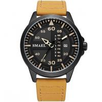 Buy cheap Smael New Fashion Men Genuine Leather Band Waterproof 30m Date and Week Display Quartz Wrist Watch 1315 from wholesalers