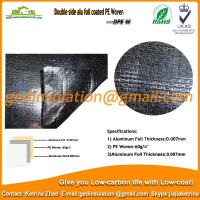 Buy cheap PE Woven Fabric With Double Side Alu Foil Coated as roof insulation from wholesalers