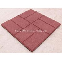 Wholesale Buffering square flooring crumb rubber brick pavers / granules rubber tile from china suppliers