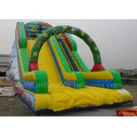Wholesale Durable Cartoon Printing Inflatable Bouncer Slide With Climbing Steps 0.55mm Pvc from china suppliers