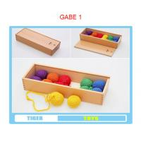 Wholesale pre school professional froebel gifts wooden educational toys froebel GABE1 color balls from china suppliers
