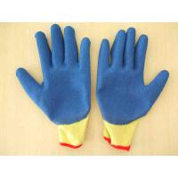 Wholesale 10G 5 Poly/Cotton strands knit liner latex coated gloves from china suppliers