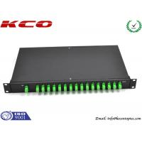 Wholesale Corning Single Mode Fiber Optic Splitter 1 to 16 Rack Mount  SC / APC Connector from china suppliers